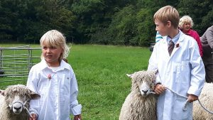 You are never too young to start showing! The Walker children at the Summer Show.
